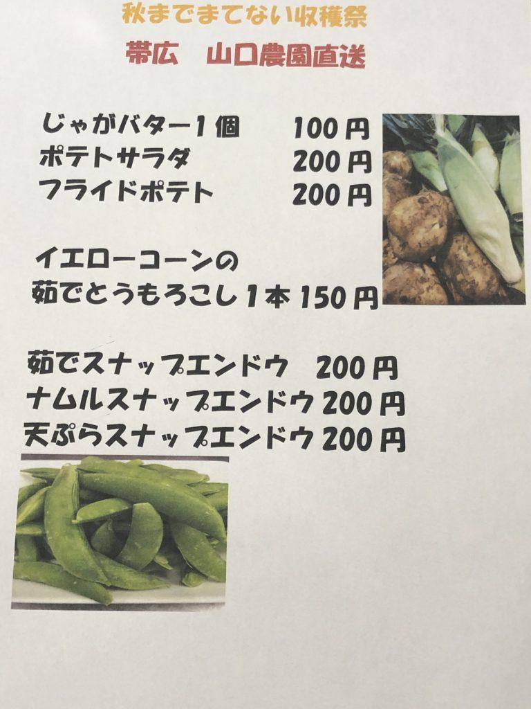 【帯広 山口農園直送】秋まで待てない収穫祭